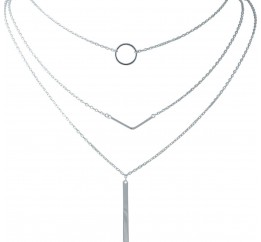 Серебряное колье SilverBreeze без камней (2015017) 420 размер