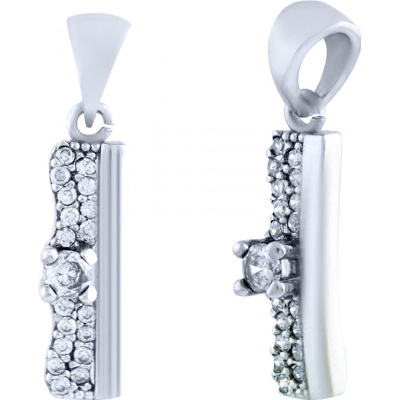 Серебряная подвеска SilverBreeze с фианитами (0986371)