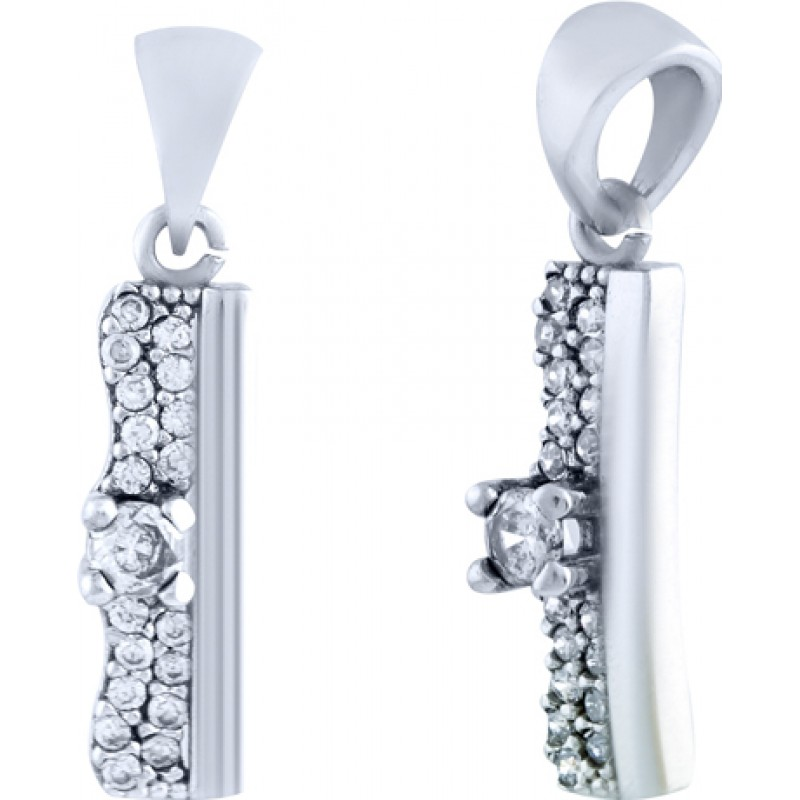 Серебряная подвеска SilverBreeze с фианитами (0986395)