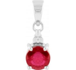 Серебряная подвеска SilverBreeze с рубином (1633052)