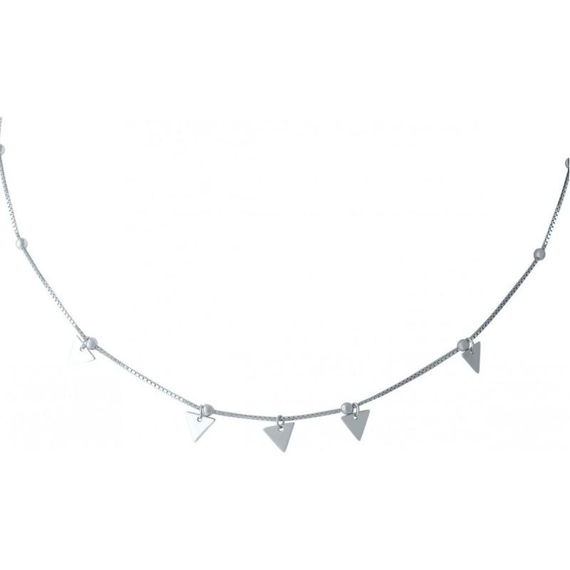 Серебряное колье SilverBreeze без камней (1965214) 360400 размер