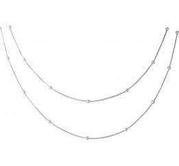 Серебряное колье SilverBreeze без камней (1967003) 6063 размер