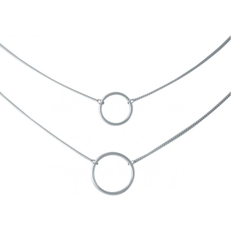 Серебряное колье SilverBreeze без камней (2014331) 500 размер
