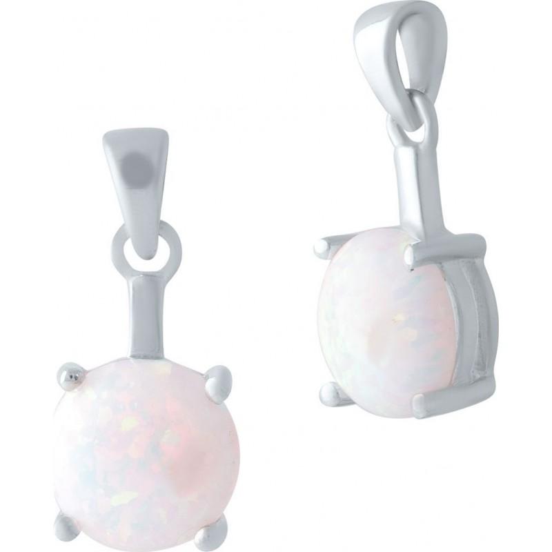 Серебряная подвеска SilverBreeze с опалом (2020127)