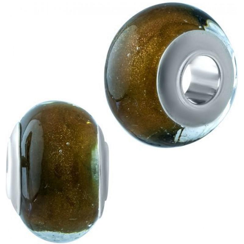 Серебряный шарм SilverBreeze с стеклом Мурано (1910474)