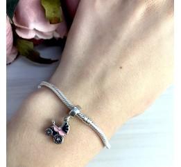 Серебряный шарм SilverBreeze с емаллю (1343067)