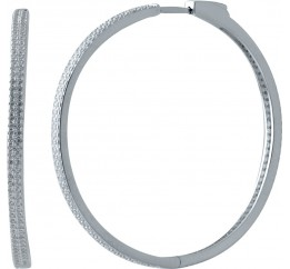 Серебряные серьги SilverBreeze с фианитами (2032786)