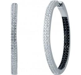 Серебряные серьги SilverBreeze с фианитами (2032779)