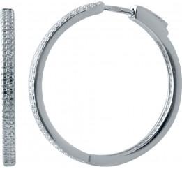 Серебряные серьги SilverBreeze с фианитами (2032762)