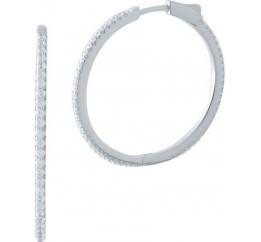 Серебряные серьги SilverBreeze с фианитами (1998328)
