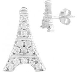 Серебряные серьги SilverBreeze с фианитами (1561010)