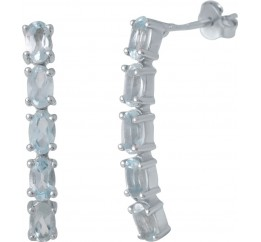 Серебряные серьги SilverBreeze с натуральным топазом (2030508)