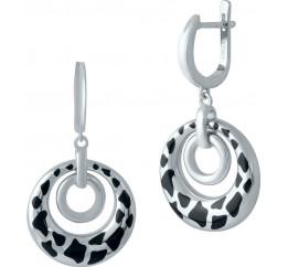 Серебряные серьги SilverBreeze с емаллю (1985922)