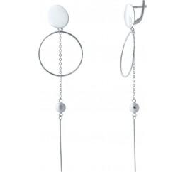 Серебряные серьги SilverBreeze без камней (2032960)