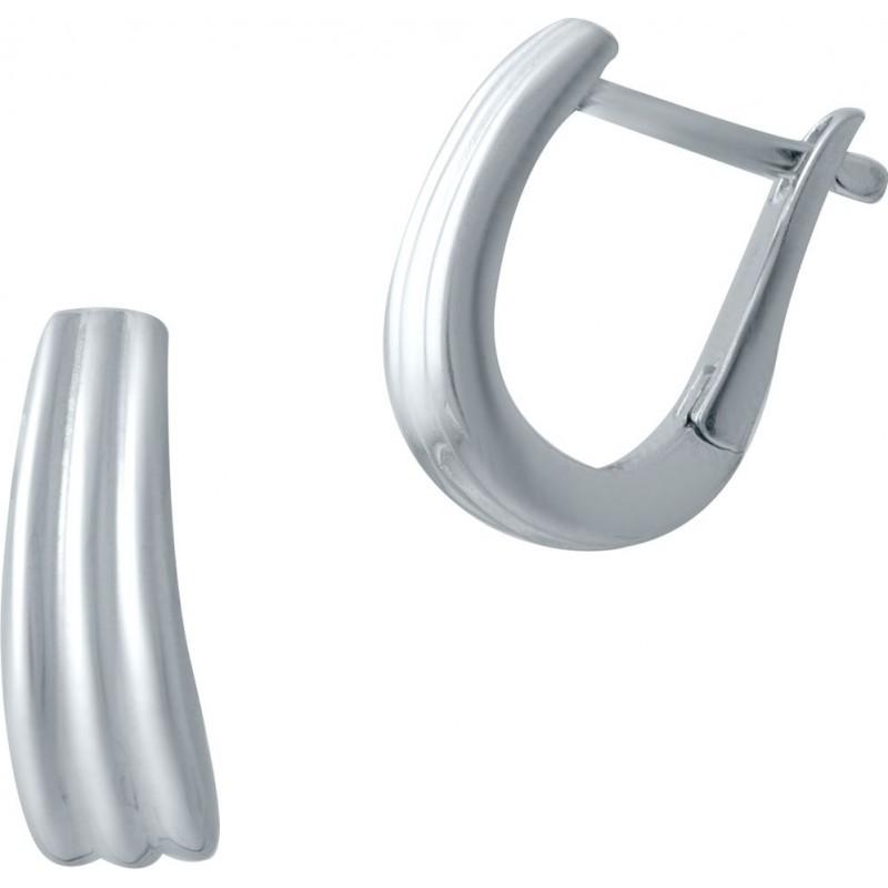 Серебряные серьги SilverBreeze без камней (2029953)
