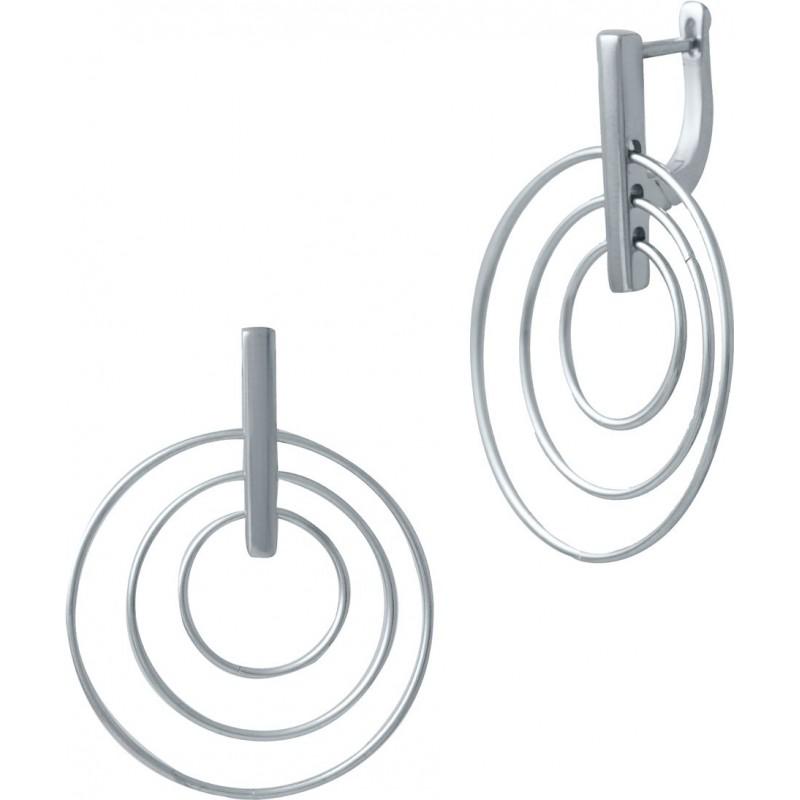 Серебряные серьги SilverBreeze без камней (2029885)