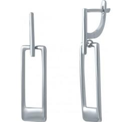 Серебряные серьги SilverBreeze без камней (2029878)
