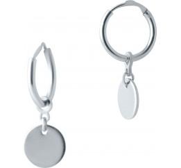 Серебряные серьги SilverBreeze без камней (2022947)