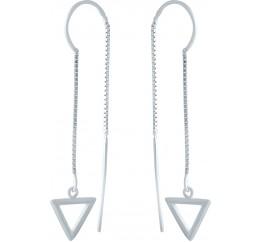 Серебряные серьги SilverBreeze без камней (1978245)