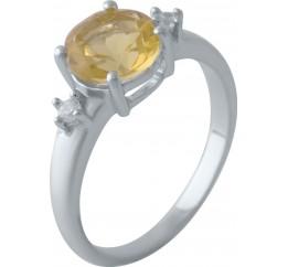 Серебряное кольцо SilverBreeze с цитрином nano (2031925) 17.5 размер