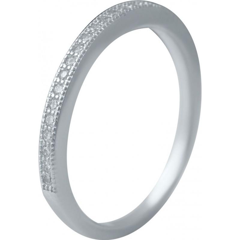 Серебряное кольцо SilverBreeze с фианитами (2036548) 18 размер