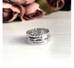 Серебряное кольцо SilverBreeze с фианитами (2031574) 18 размер