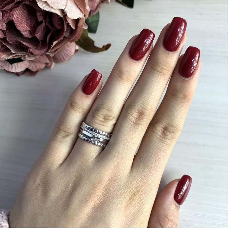 Серебряное кольцо SilverBreeze с фианитами (2031574) 16 размер