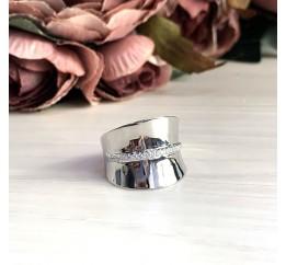 Серебряное кольцо SilverBreeze с фианитами (2031550) 19 размер