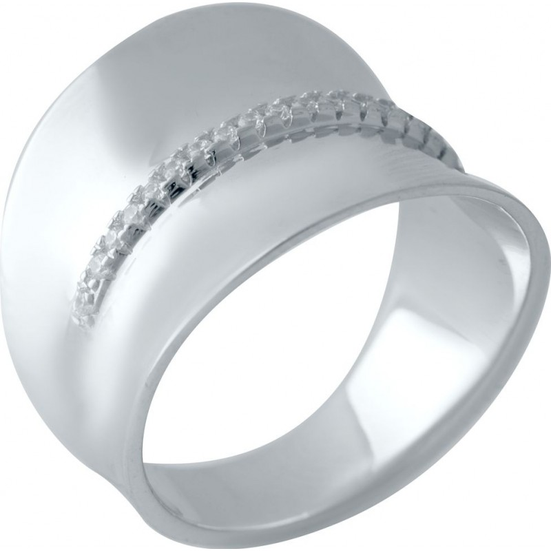 Серебряное кольцо SilverBreeze с фианитами (2031550) 17 размер