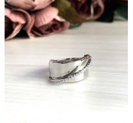 Серебряное кольцо SilverBreeze с фианитами (2031536) 17.5 размер