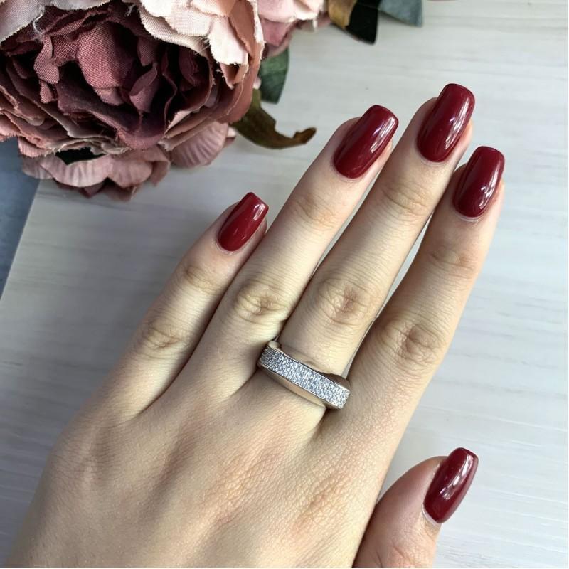 Серебряное кольцо SilverBreeze с фианитами (2031482) 17 размер