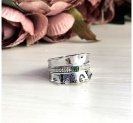 Серебряное кольцо SilverBreeze с фианитами (2031451) 18 размер