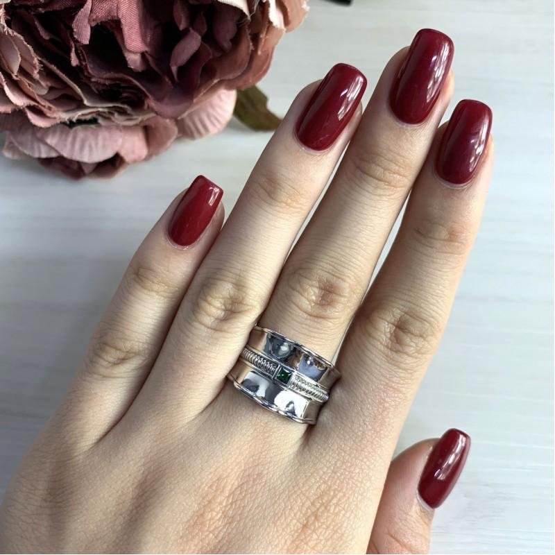 Серебряное кольцо SilverBreeze с фианитами (2031451) 16.5 размер