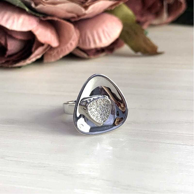 Серебряное кольцо SilverBreeze с фианитами (2031444) 16.5 размер