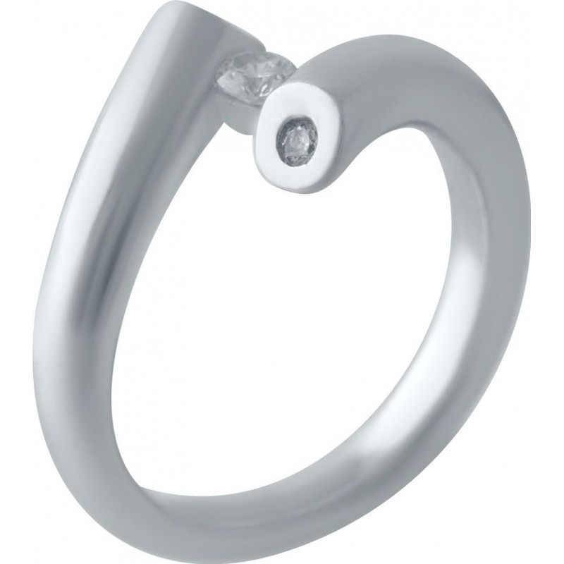 Серебряное кольцо SilverBreeze с фианитами (2029540) 18 размер