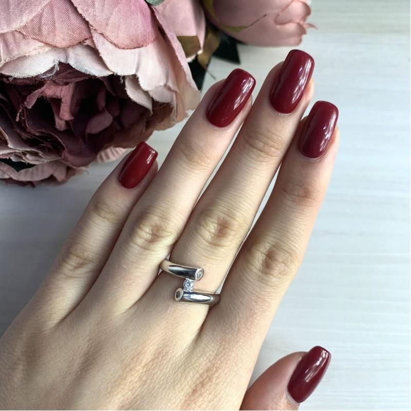 Серебряное кольцо SilverBreeze с фианитами (2029540) 16 размер