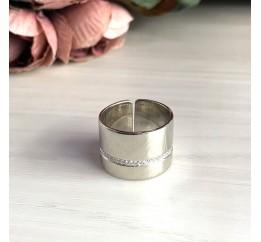 Серебряное кольцо SilverBreeze с фианитами (2029496) 18.5 размер