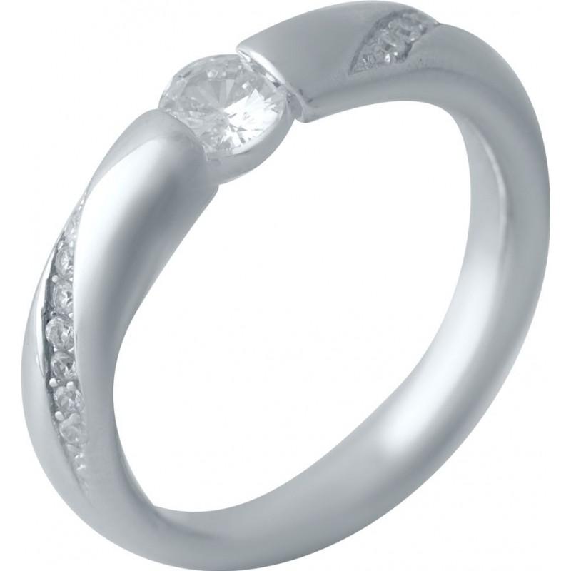 Серебряное кольцо SilverBreeze с фианитами (2022398) 17 размер