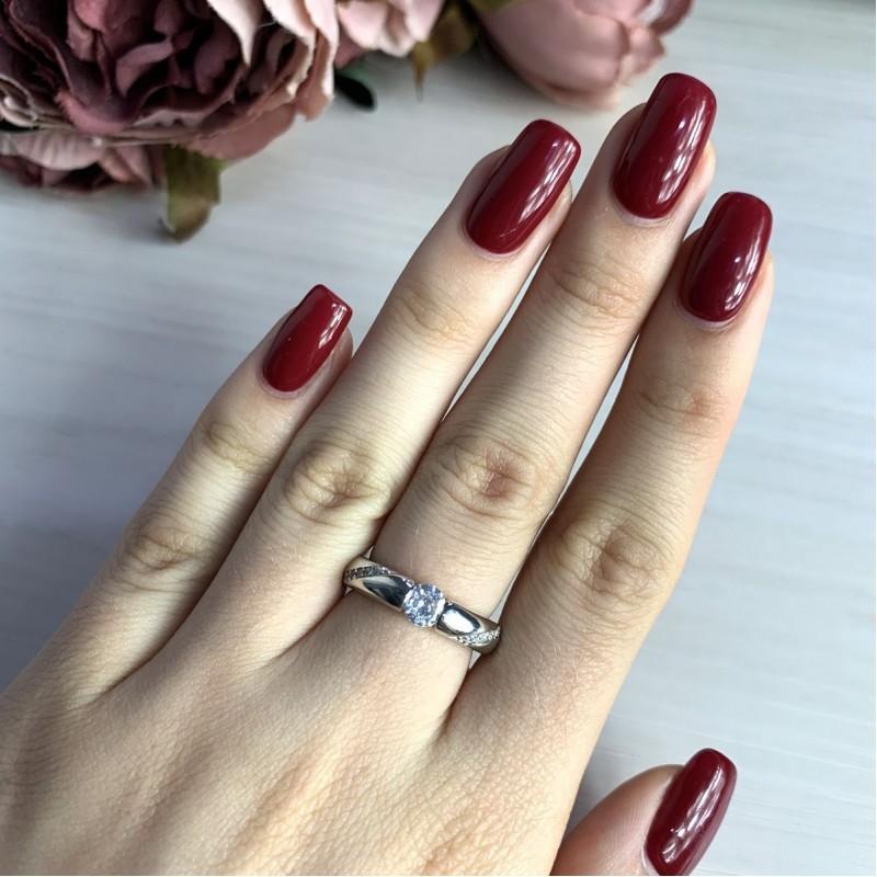 Серебряное кольцо SilverBreeze с фианитами (2022398) 16.5 размер