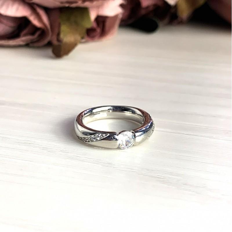 Серебряное кольцо SilverBreeze с фианитами (2022398) 16 размер