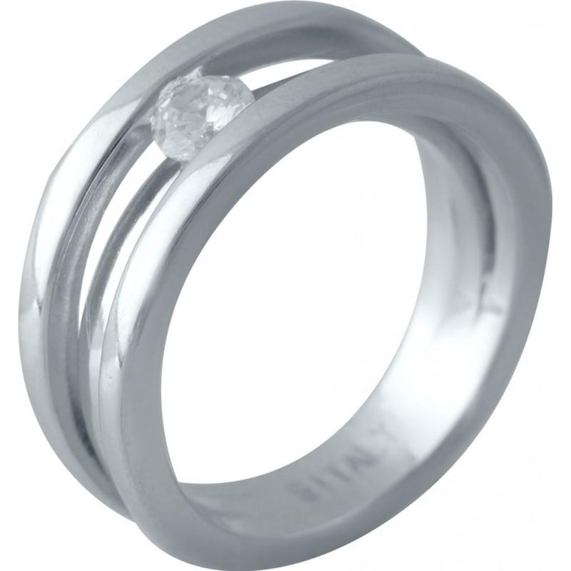 Серебряное кольцо SilverBreeze с фианитами (2016298) 18 размер