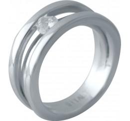 Серебряное кольцо SilverBreeze с фианитами (2016298) 17.5 размер