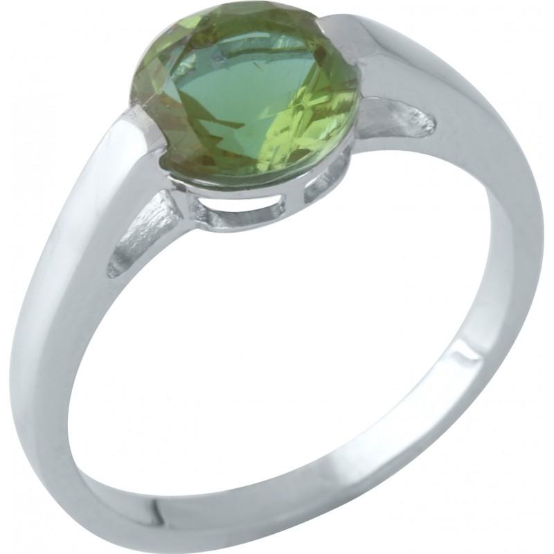 Серебряное кольцо SilverBreeze с Султанит султанитом (1960240) 17.5 размер