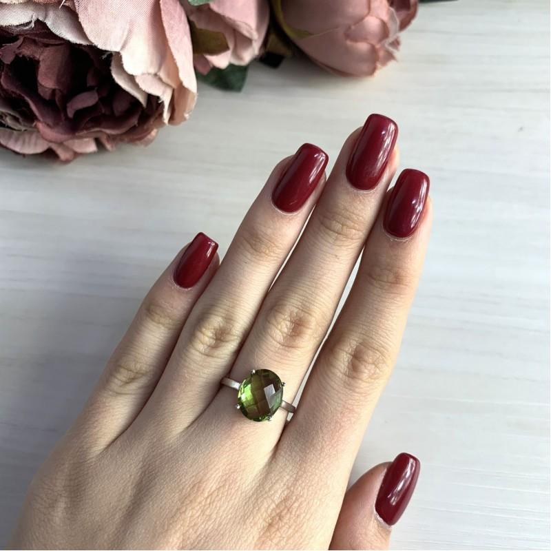 Серебряное кольцо SilverBreeze с Султанит султанитом (1948583) 17 размер