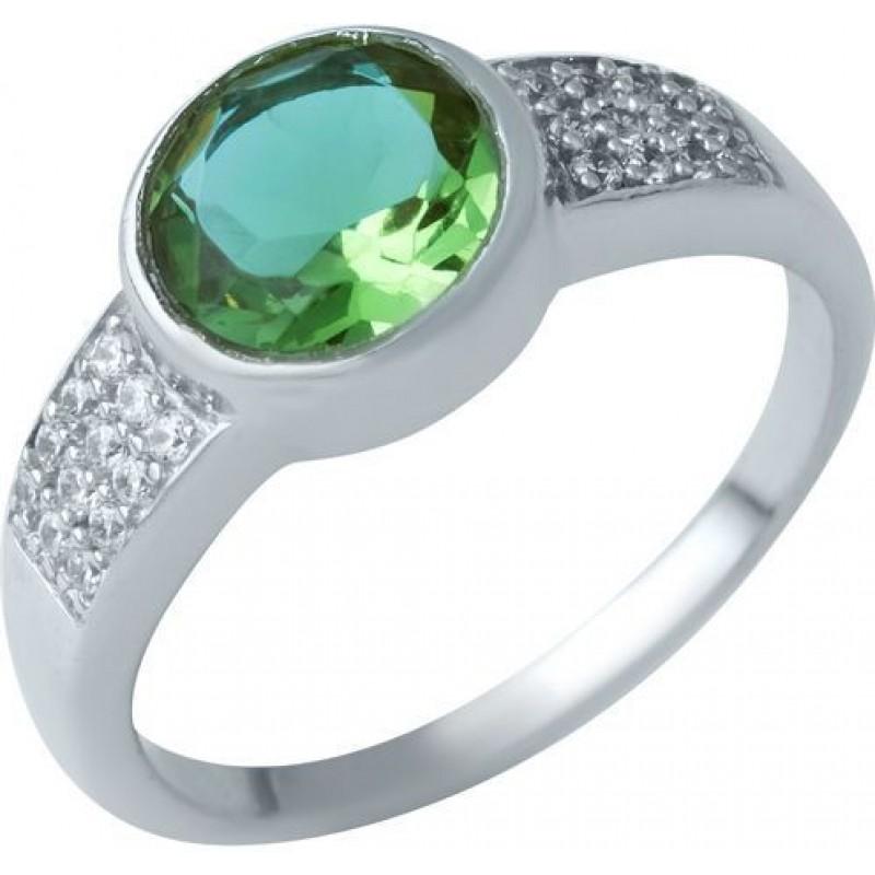 Серебряное кольцо SilverBreeze с Султанит султанитом (1937624) 18.5 размер