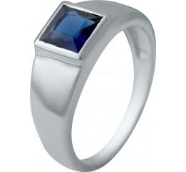 Серебряное кольцо SilverBreeze с сапфиром nano (2033134) 18 размер