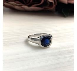 Серебряное кольцо SilverBreeze с сапфиром nano (2033080) 17 размер