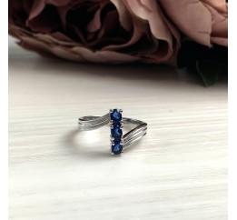 Серебряное кольцо SilverBreeze с сапфиром nano (2033042) 18 размер