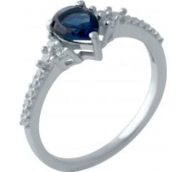 Серебряное кольцо SilverBreeze с сапфиром nano (2029090) 17 размер