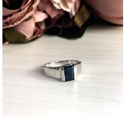 Серебряное кольцо SilverBreeze с сапфиром nano (2029052) 17.5 размер